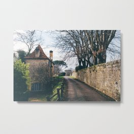 Streets of Domme, France Metal Print