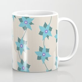 Star Flowers and Vines Coffee Mug