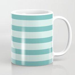 Turquoise Beach Stripes Coffee Mug