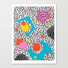 Get Real - memphis abstract pattern retro 80s design minimalist gifts colorful 1980's trend Canvas Print