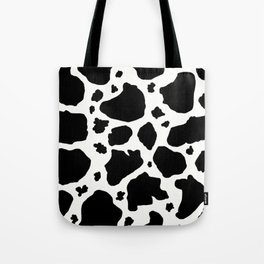 black and white animal print cow spots Tote Bag