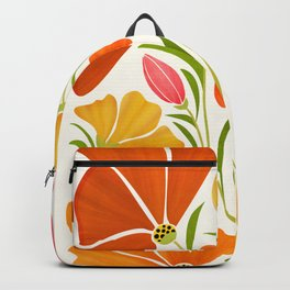 Spring Wildflowers / Floral Illustration Backpack
