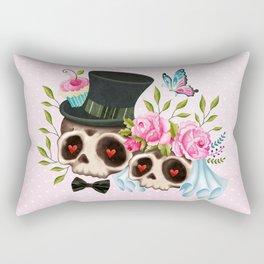 Together Forever - Sugar Skull Bride & Groom Rectangular Pillow