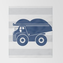 Dump truck stripe Throw Blanket