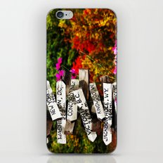 Signpost in the Fall iPhone & iPod Skin