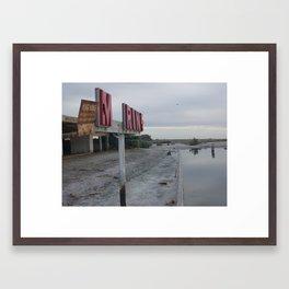 saltin sea  Framed Art Print