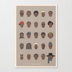 25 FACES OF SAMUEL Canvas Print