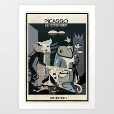 picasso+Le Corbusier Art Print