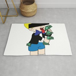 Rich Men liking money [Monopoly] Rug