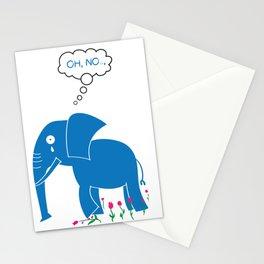 Sad Elephant Stationery Cards