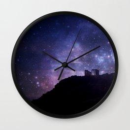 Temple of Poseidon Wall Clock