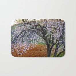 """Flowering Almond"". At Sunset Bath Mat"