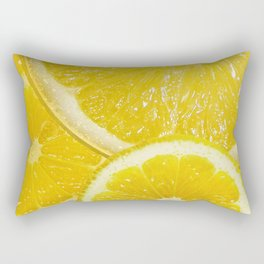 Juicy Lemon Slices Fruit Design Rectangular Pillow