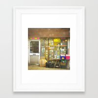 record Framed Art Prints featuring Record Store by Cassia Beck