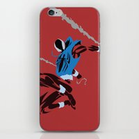 spider man iPhone & iPod Skins featuring Spider-Man - Scarlet Spider by TracingHorses