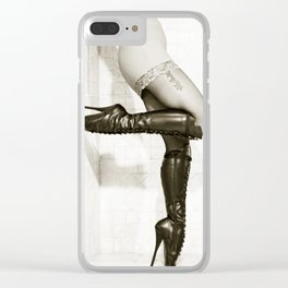 Ballet boots - 3 of 3 from Triptych - Come hither! Clear iPhone Case