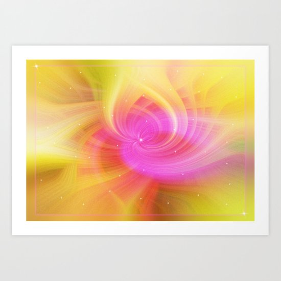 Starry pink abstract Art Print