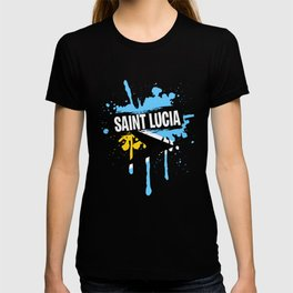 Cool Saint Lucia Tshirt Men T-shirt