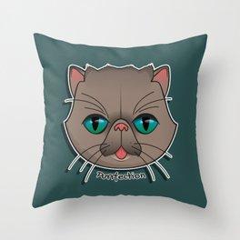 Purrfection Throw Pillow