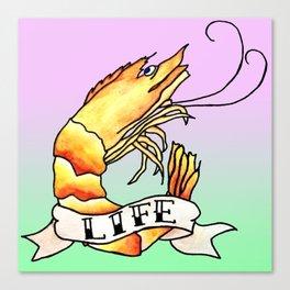 Shrimp Life Canvas Print