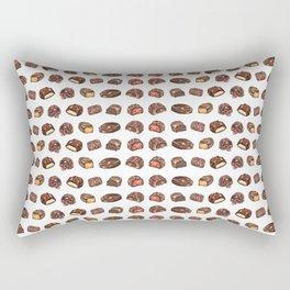 Watercolor Chocolate Truffles Rectangular Pillow