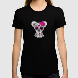 Pink and Blue Day of the Dead Sugar Skull Baby Koala Bear T-shirt