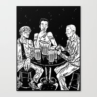 bar Canvas Prints featuring bar by Evan R. Spears