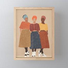 Women with the Turbans II Framed Mini Art Print