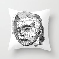 matty healy Throw Pillows featuring Matty by latiife