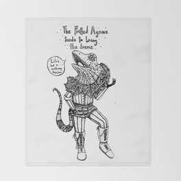 F is for Frilled Agama Throw Blanket