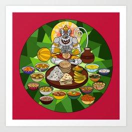 Hanuman's Meal Art Print
