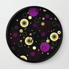 Circles with black Wall Clock