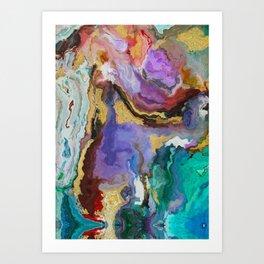 modern marble p Art Print