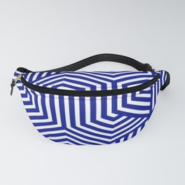 Phthalo blue - blue - Minimal Vector Seamless Pattern Fanny Pack