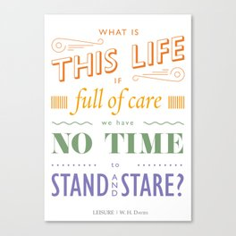 What is this life? Canvas Print