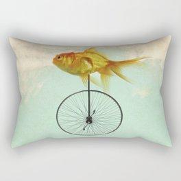 unicycle goldfish Rectangular Pillow