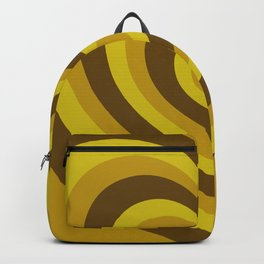 Yellow & Brown Hearts Backpack