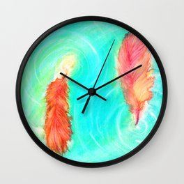 Fire and the Flood Wall Clock