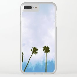 Sinkhole Palms Clear iPhone Case