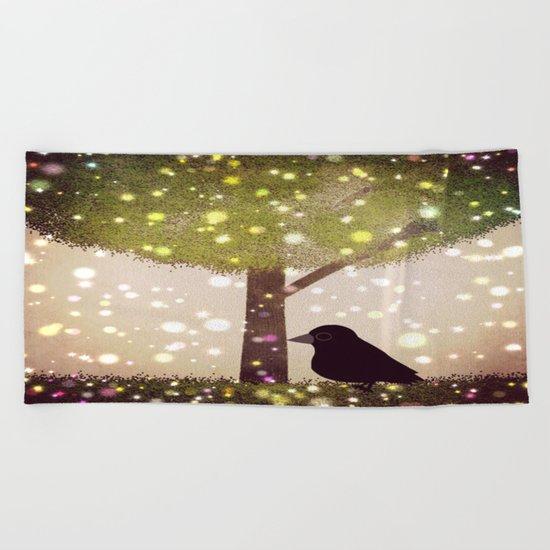 crow-51 Beach Towel