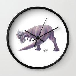 Purple Pachycephalosaurus Wall Clock