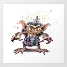 Garbage goblin Art Print