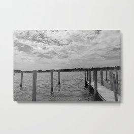 Saugatuck Boating Dock Metal Print