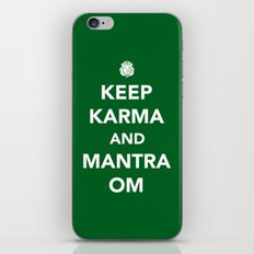 Keep Karma And Mantra Om iPhone & iPod Skin