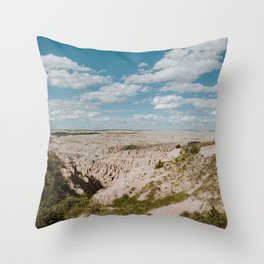 Red Shirt Table - Badlands National Park Throw Pillow