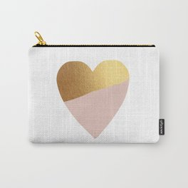 Heart of Gold (and Millennial Pink) Carry-All Pouch