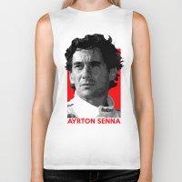 senna Biker Tanks featuring Formula One - Ayrton Senna by Vehicle