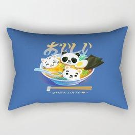 Ramen Panda Cat Bear Rectangular Pillow