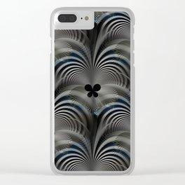 Dark butterfly effect pattern Clear iPhone Case