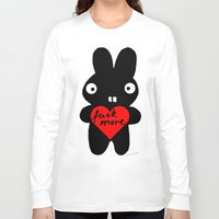 bunny Long Sleeve T-shirts featuring Bunny by Sylwia Borkowska